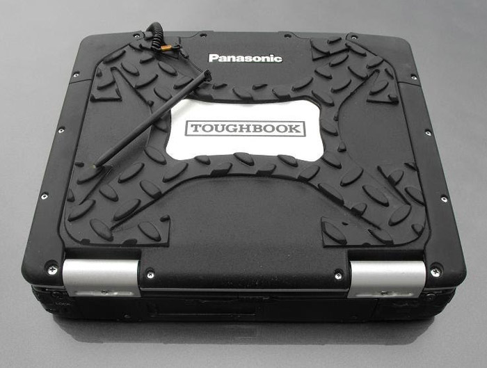 panasonic toughbook in a closed carrier case